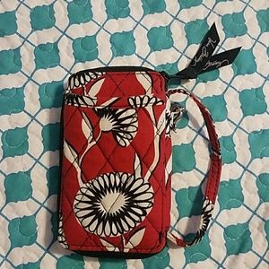 Vera Bradley red and white phone wristlet